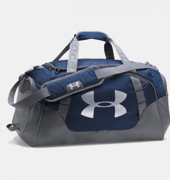 UA Medium Hustle Duffel Bag Navy