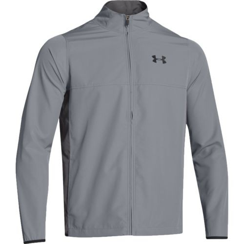 UA Men's Vital Woven Warm-Up Jacket Grey
