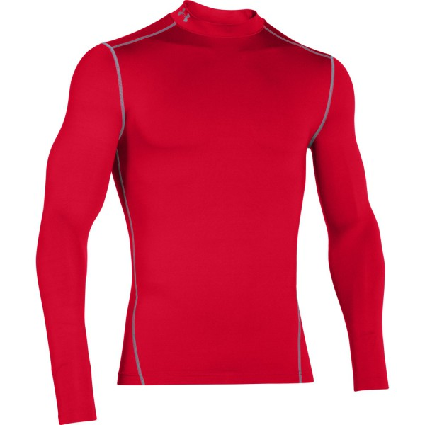 UA ColdGear Armour Compression Mock Red