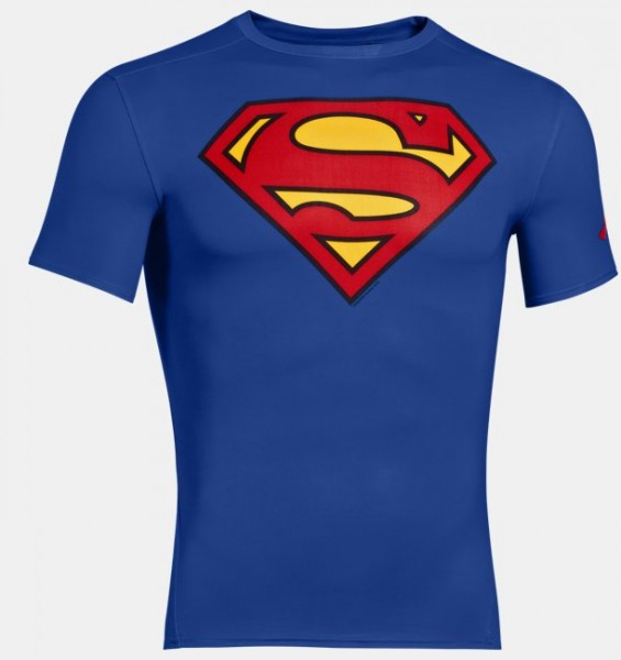 UA Supermann Shirt Royal Blau ( 401 )