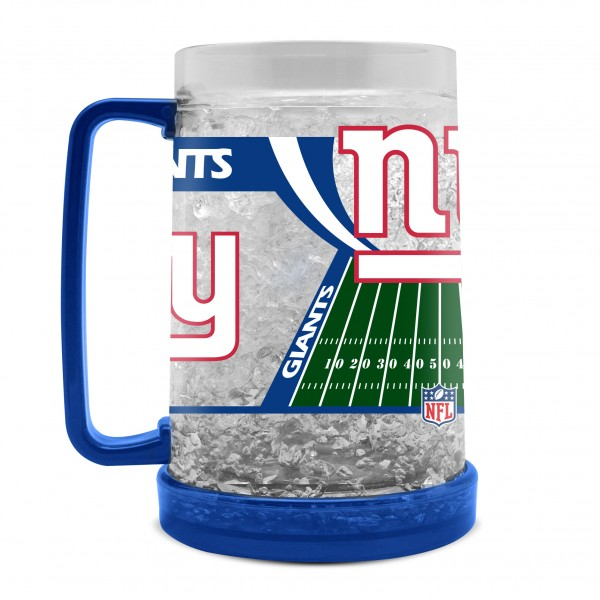 NEW YORK GIANTS CRYSTAL FREEZER MUG 16-OZ.