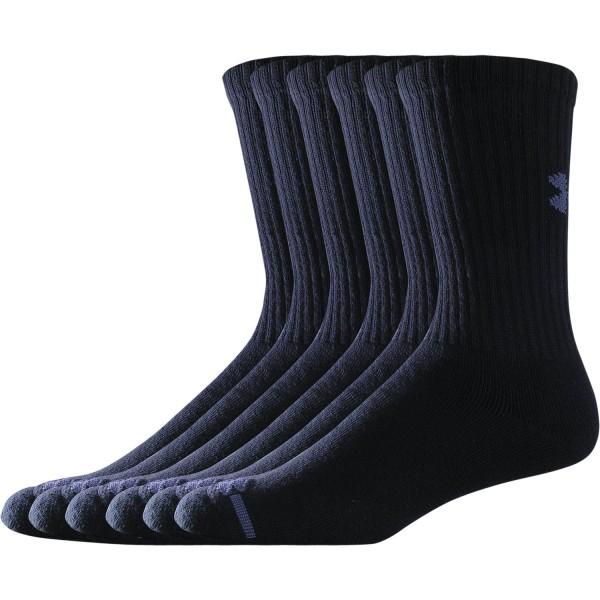 UA Men's Charged Cotton Socks 6er Pack Black (001)