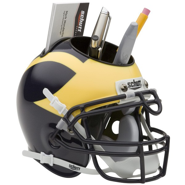 Schutt Mini Helmet Desk Caddy Michigan Wolverines