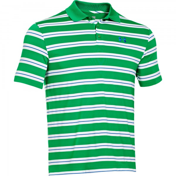 UA Essential Stripe Polo Feisty / White Small