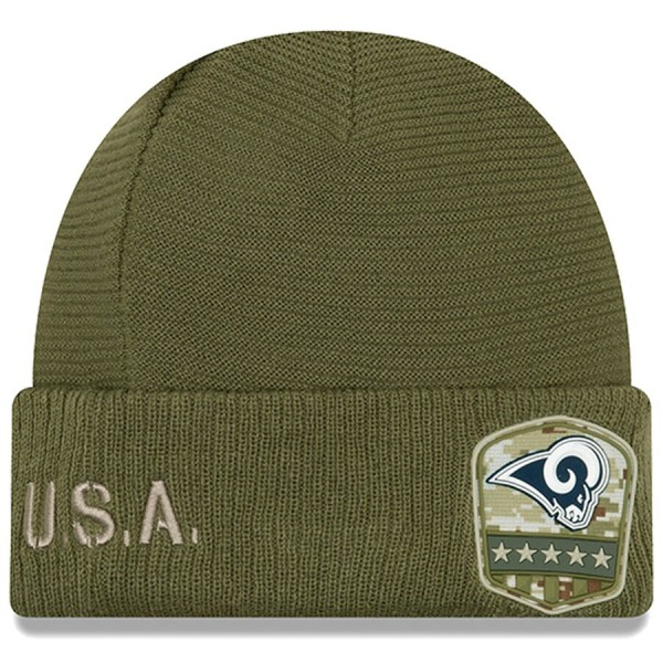 New Era OnField 19 STS Knit Hat LA Rams