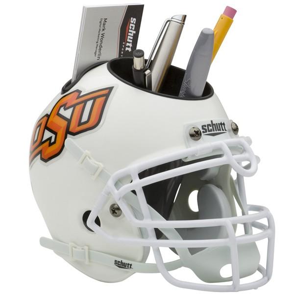 Schutt Mini Helmet Desk Caddy Oklahoma State Cowboys