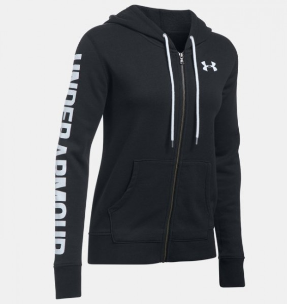 UA Women Full Zip Hoodie Black (001)