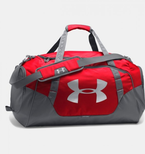 UA Medium Hustle Duffel Bag Red
