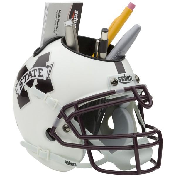 Schutt Mini Helmet Desk Caddy Mississipi State Bulldogs
