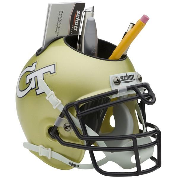 Schutt Mini Helmet Desk Caddy Georgia Tech Yellow Jackets
