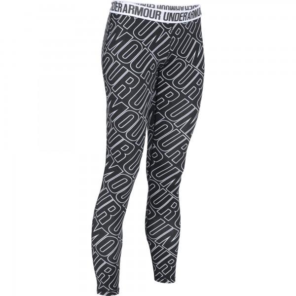 UA Favorite Allover Word Mark Legging Black / White Small