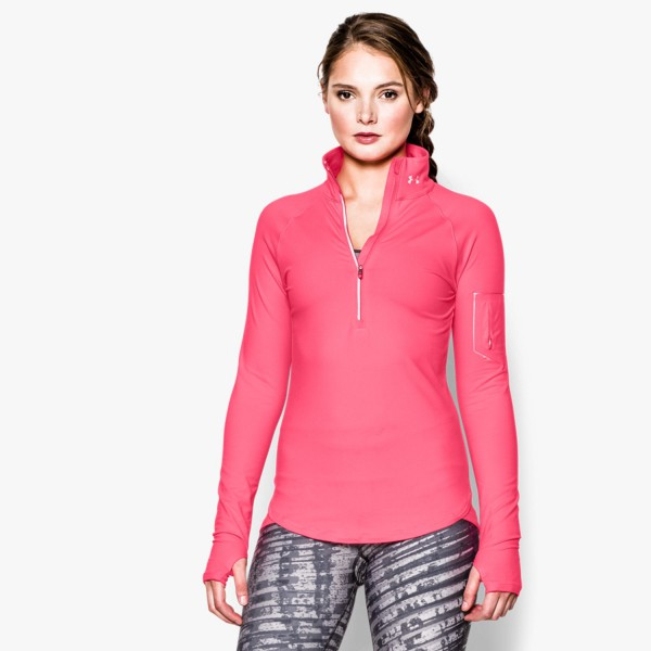 UA Fly Fast 1/2 Zip Pink Shock