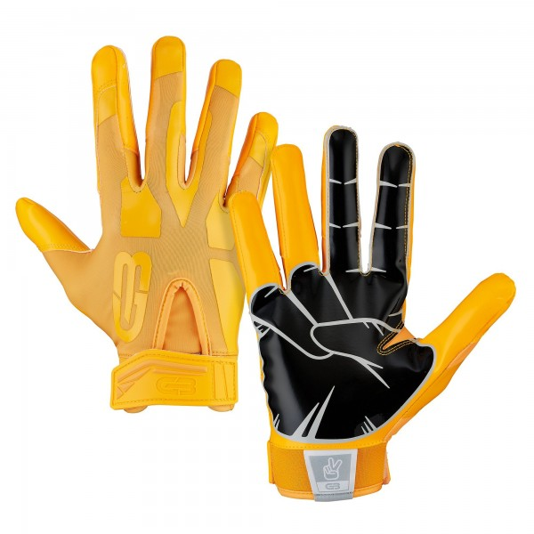 Grip Boost Peace Football Glove Gold
