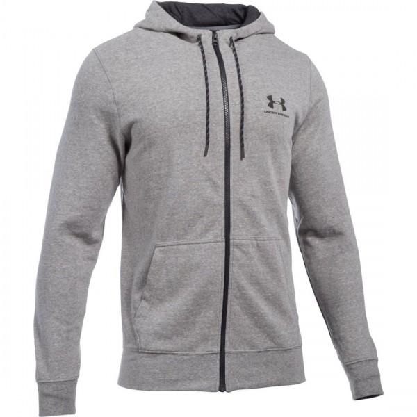 UA Men's Sportstyle Fleece Zip Grey