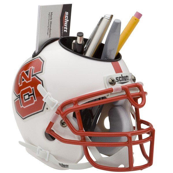 Schutt Mini Helmet Desk Caddy North Carolina State Wolfpack