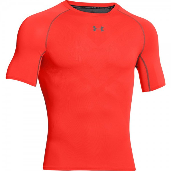 UA HeatGear ArmourVent Short Sleeve Bolt Orange