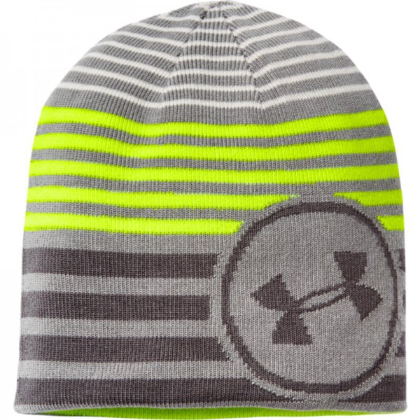 UA Kids Reversible Beanie Steel / Neon