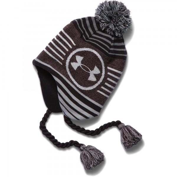 UA Boy's Tassle Beanie Black 001