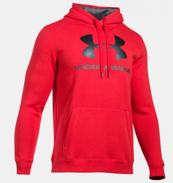 Under Armour Rival Fitted Hoodie Red -SALE