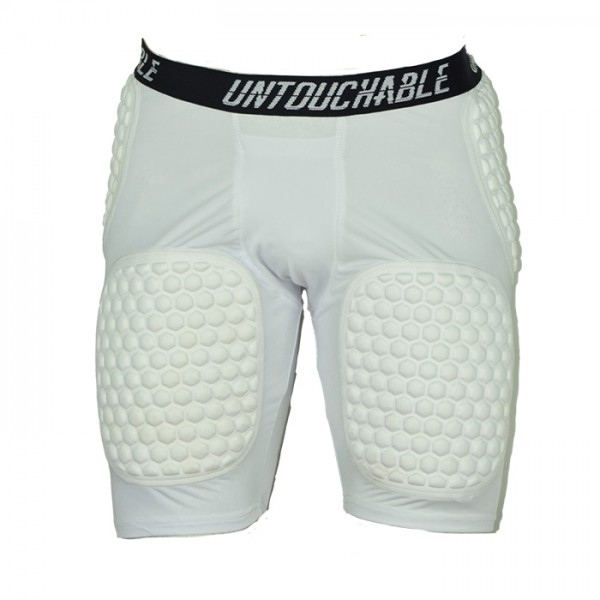 Untouchable 5/ Padded Girdle WHITE w/Cup Pocket and Padding