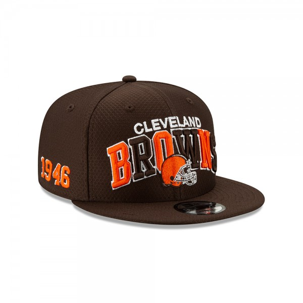 NFL 2019 Sideline 9Fifty Snapback Cap OSFM Home Cleveland Browns