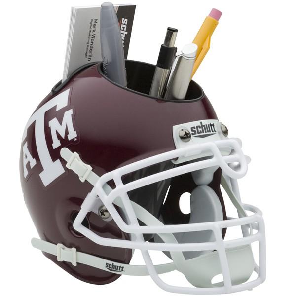 Schutt Mini Helmet Desk Caddy Texas A&M Aggies