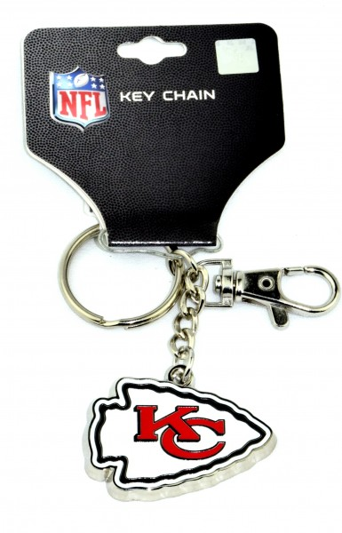 KANSAS CITY CHIEFS ZAMAC KEYCHAIN