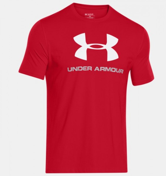 UA CC Sportstyle Logo T Red ( 600 )