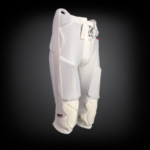 All In One Football Pant White incl. Pads & Belt