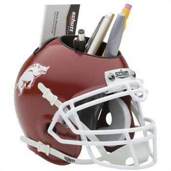 Schutt Mini Helmet Desk Caddy Arkansas Razorbacks