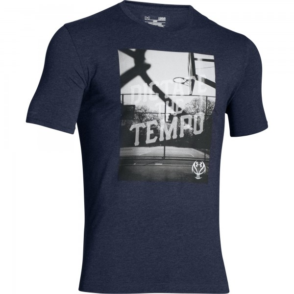 UA Dictate The Tempo Basketball Graphic T-Shirt XSmall