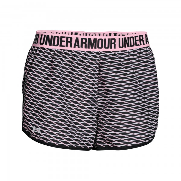 UA Printed Perfect Pace Short Black / White (016) XSmall