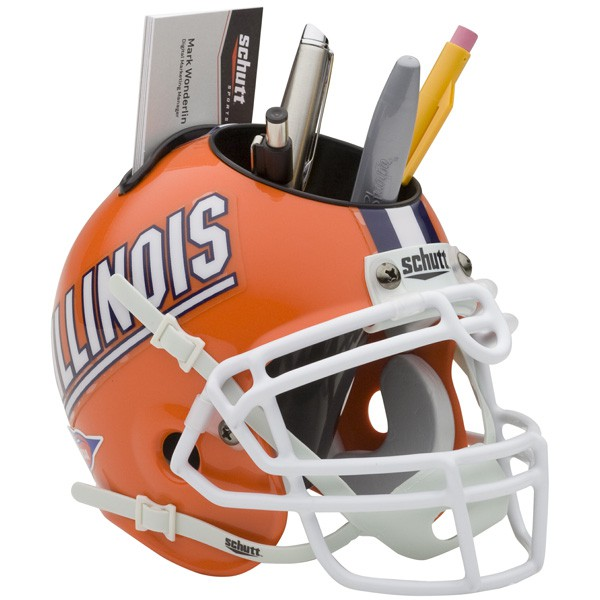 Schutt Mini Helmet Desk Caddy Illinois Fighting Illini