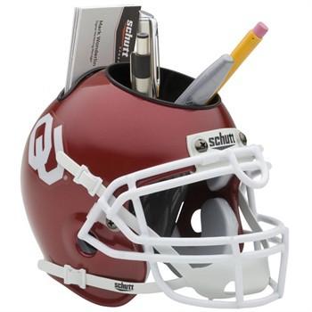 Schutt Mini Helmet Desk Caddy Oklohoma Sooners