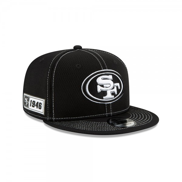NFL 2019 Sideline 9Fifty Snapback Cap OSFM Away San Francisco 49ers