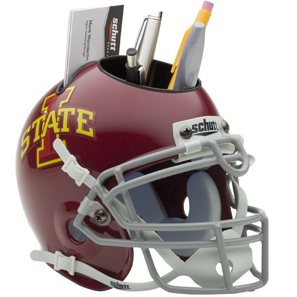Schutt Mini Helmet Desk Caddy Iowa State Cyclones