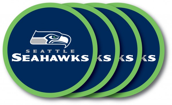 Seattle Seahawks Coaster Set 4-Pack