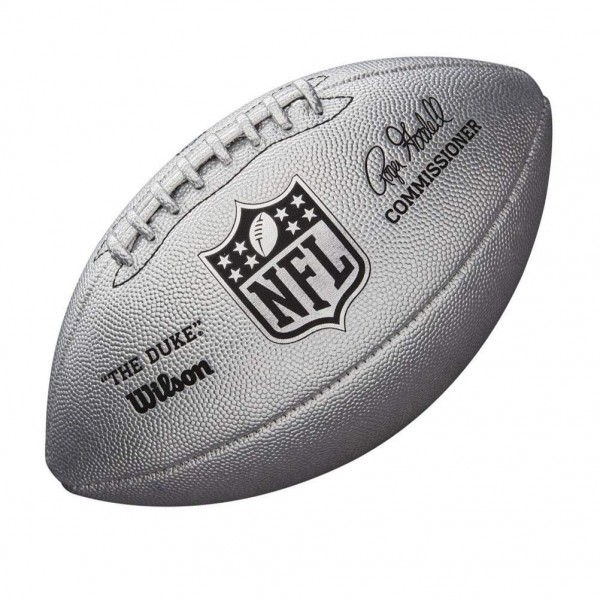 Limited DUKE METALLIC SILVER Football WTF1827XB