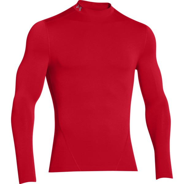UA Coldgear Compression Mock Red XXLarge