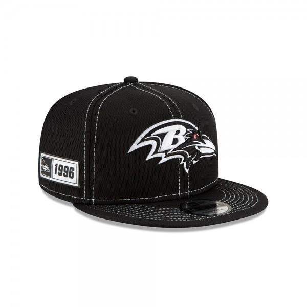 NFL 2019 Sideline 9Fifty Snapback Cap OSFM Away Baltimore Ravens