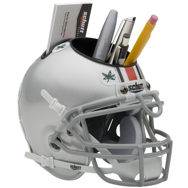 Schutt Mini Helmet Desk Caddy Ohio State Buckeyes
