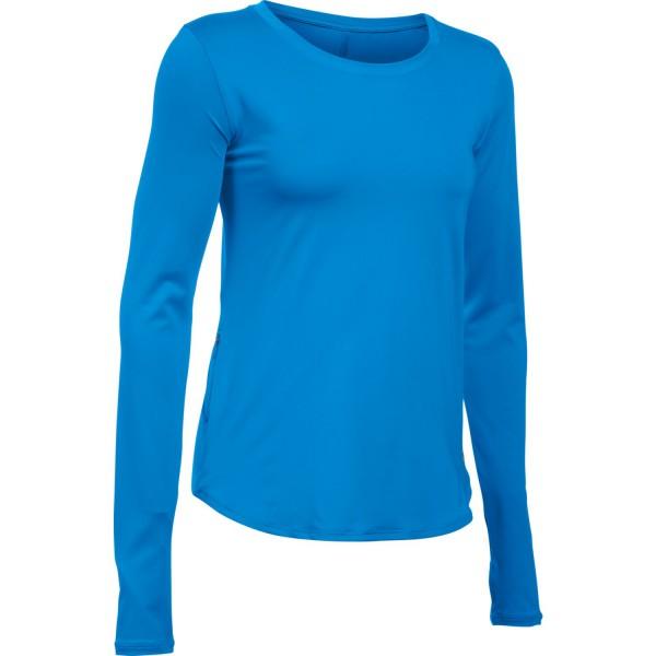 UA Fly-By Women's Running Langarmshirt Water Large(464)