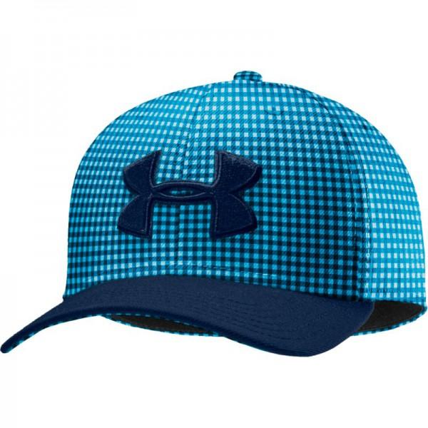 UA Men's Low Crown Plaid Cap Blue - SALE