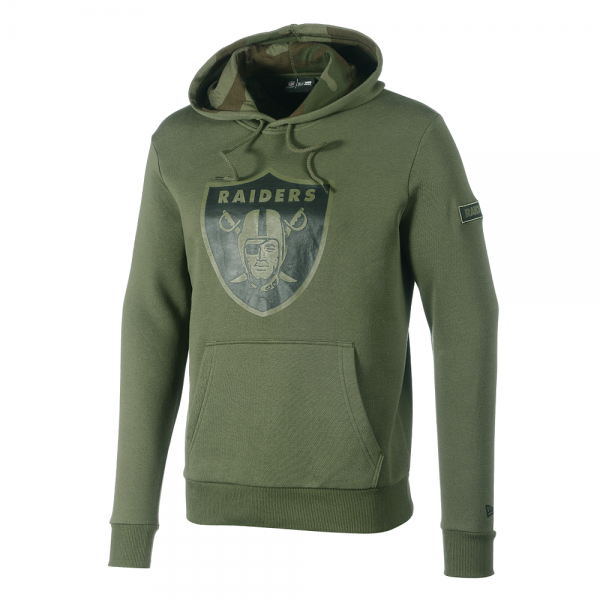 New Era NFL Camo Large Print Hoody Raiders