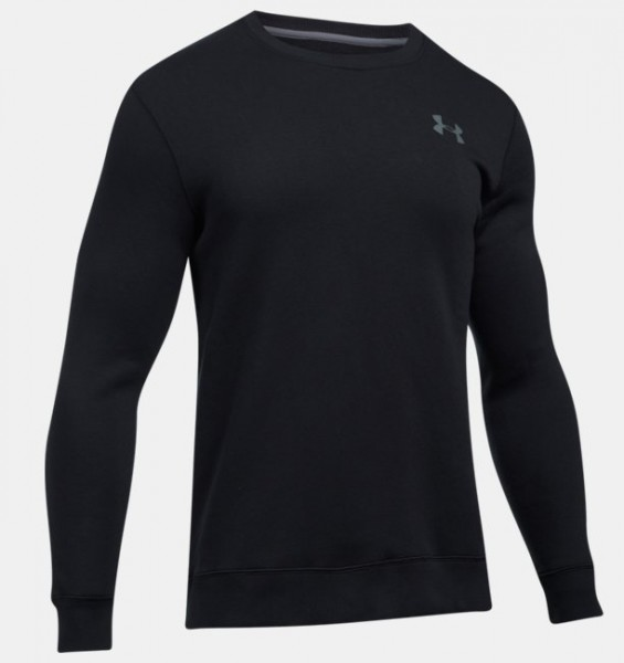 UA Rival Solid Fitted Crew Longsleeve Black SALE