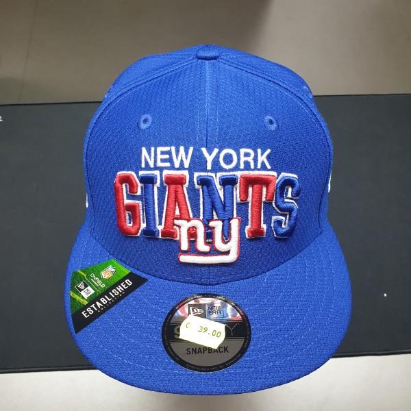 NFL 2019 Sideline 9Fifty Snapback Cap OSFM Home New York Giants