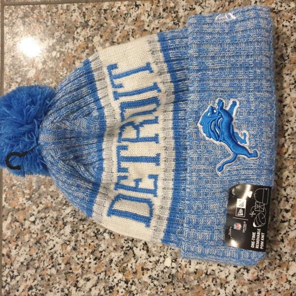 NFL Sideline Bobble Knit Detroit Lions