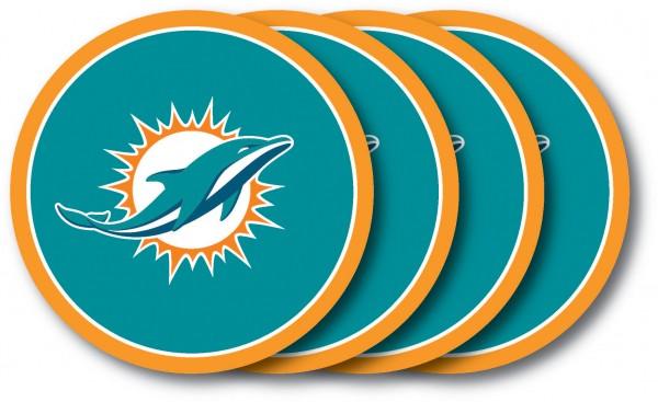 Miami Dolphins Coaster Set 4 - Pack