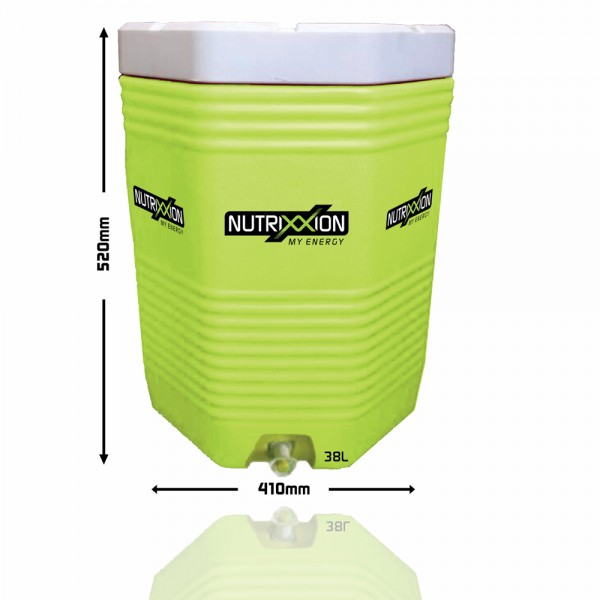 Cooler 38 Liter Special SET inkl. 12 Flaschen und 1 Gratis Endurance Pulver 2,2Kg Lemon