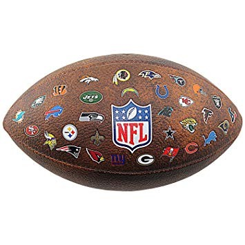 NFL Throwback 32 Team Logo Football F1758XBN